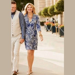 CAbi Jewel Shirt Midi Shift Button Down Dress #422